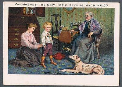 Original 1900's New Home Sewing Machine Co. Advertising Trade Card