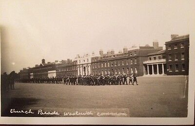 RP postcard - The Woolwich Garrison Parade - Woolwich Common/ Barracks.