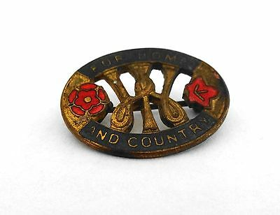 Vintage Enamel For Home And Country Wi (Womens Institute) Pin Badge - Frattorini