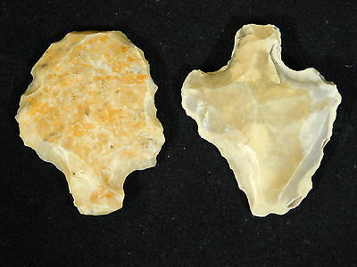TWO 100% Authentic 55,000 to 12,000 Year Old Aterian Stemmed Artifacts 24.1