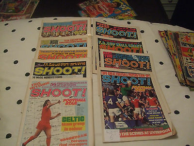 Shoot Magazines x 9 From 1973/74 Lot No 2