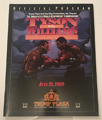 1989 MIKE TYSON Vs CARL WILLIAMS OFFICIAL ON SITE PROGRAM programme