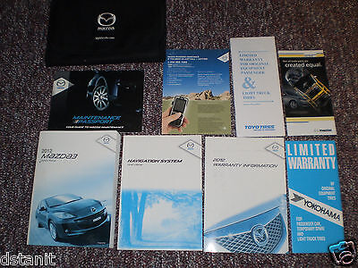 2012 MAZDA 3 i s SPORT TOURING GRAND CAR OWNERS MANUAL BOOKS NAV GUIDE CASE ALL