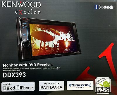 "NEW Kenwood DDX393 6.2"" Touchscreen DVD/AM/FM Car Audio Receiver, Bluetooth"