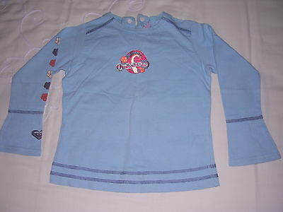 Girls blue QUIKSILVER long sleeved top age 4 yrs  good condition