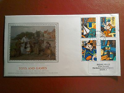 1989 Superb Pps Fdc - Toys & Games Issue - Leeds