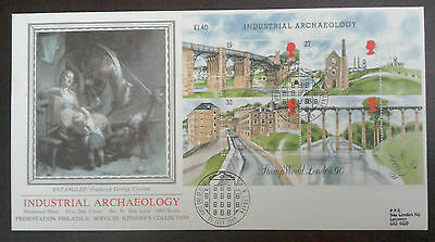 1989 Superb Pps Fdc - Industrial Archaeology Sheet - New Lanark