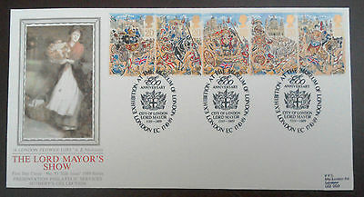 1989 Superb Pps Fdc - Lord Mayors Show - Exhibition At Museum Of London