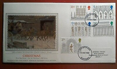 1989 Superb Pps Fdc - Christmas Issue - Oxford First Day