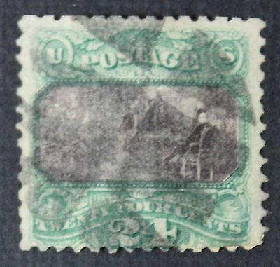 CKStamps: US Stamps Collection Scott#120 24c Pictorial Used Corner Repaired $650