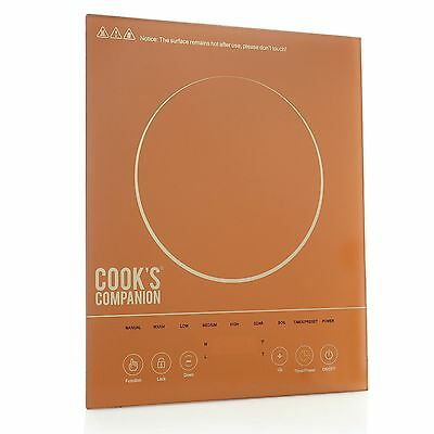 Cook's Companion 1500W LED Color Glass Programmable Induction Cooker Copper NEW