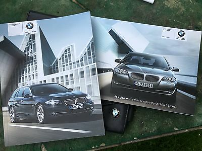 BMW 5 series F10 F11 owners manual, leather pouch, genuine.