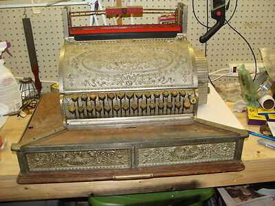 National Cash Register 349-2-2 Nickle plated Rare Double Drawer