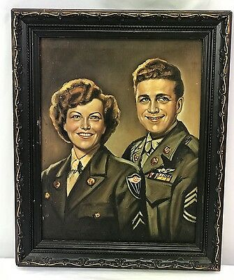Original WWII US Army Air Corps Portrait Painting