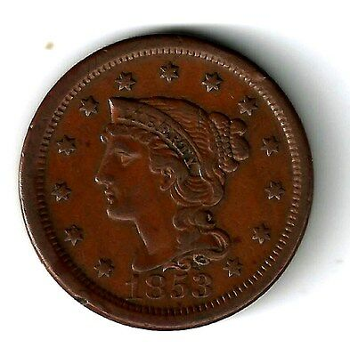 1853 -  LARGE  CENT  -   very  nice