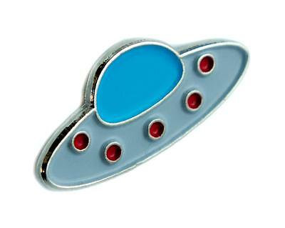 Flying Saucer UFO Lapel Pin Alternative Clothing Aliens I Believe They Are Out
