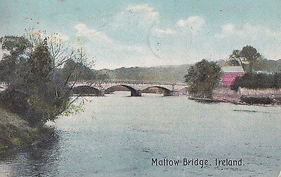 g irish postcard ireland cork mallow bridge
