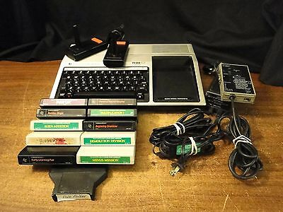 Texas Instruments TI-99/4A, Video Game Console System, controllers, wires, games
