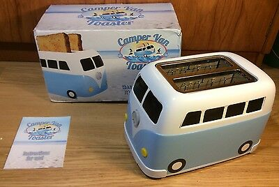 Rare Discontinued Blue VW Campervan Van Toaster Fizz Creations New Boxed Unused