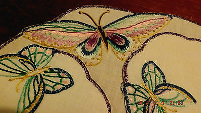 Antique Irish  Linen Hand Embroidered Very Pretty 5 Piece Set 1930