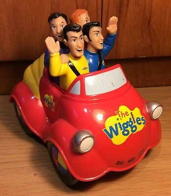 Rare The Wiggles Toys Big Red Car Singing Moving Push Along Musical Toy 2003