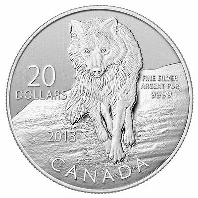 Canada 2013 - $20 for $20 - 99.9 % Silver - 8 th in the series - Wolf