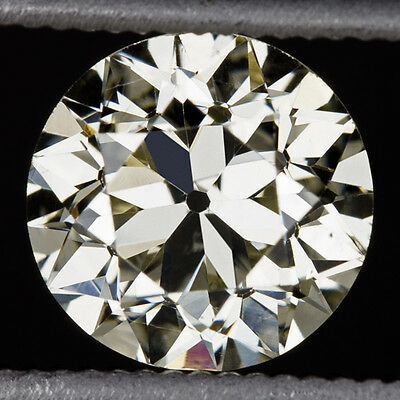 Gia Certified 1 Carat Old European Cut Diamond S-T Si1 Round Engagement Loose