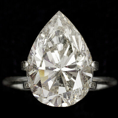 8 CARAT NATURAL DIAMOND REAL PEAR CUT SHAPE PENDANT 7ct 8ct 9ct ENGAGEMENT RING