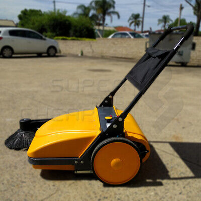 INDUSTRIAL FLOOR Walk behind SWEEPER HEAVY DUTY 30L WET DRY Fine Sand 3680SQM/HO