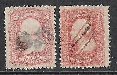Lot of 2 Used US Stamps, SCN 65 & 94 (Lot A170297)