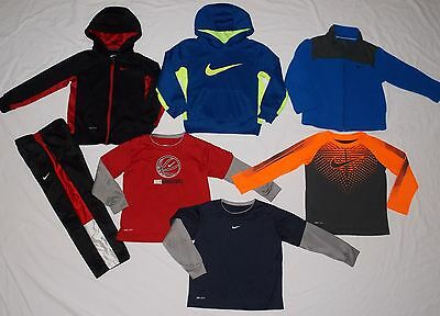 Lot of NIKE Dri Fit Boy's Long Sleeve Shirts Tops Hoodie Kids Youth Size 4 EUC!!