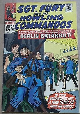 1966 Sgt. Fury and His Howling Commandos #35 VG Hitler Berlin Breakout Marvel