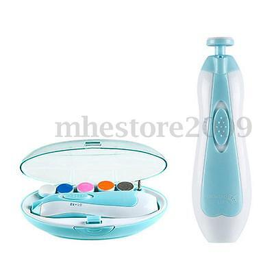 Infant Electric Nail Trimmer Newborn Clippers Baby Care Safe Effective Battery