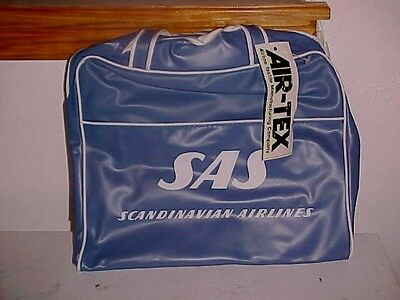 NEW w/tags Vintage SAS Scandinavian Airlines Flight Carry-On Vinyl Travel Bag