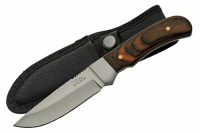 FIXED-BLADE HUNTING KNIFE | Rite Edge Wood Silver Blade Full Tang Skinner