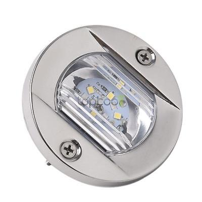LED Marine Boat Transom Stainless Steel Anchor Stern Light Waterproof Warm White