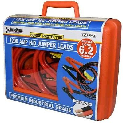 1200Amp 6.2M Surge Protected Heavy Duty Jump Start Booster Jumper Leads