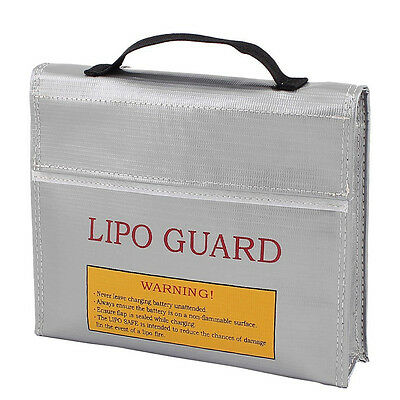 RC LiPo Battery Safety Bag Safe Guard Charge Sack 23.5*18 *6.5 cm Silver New