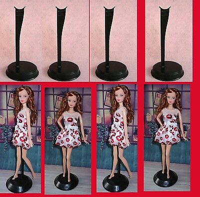 ^◎^ 8  items -- 8 Black  stand  Display Model  for Barbie Doll  Mty56