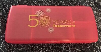 Brand New Tupperware Sandwich Keeper Plus - Pink 50 Years Of  - FREE SHIPPING