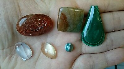 joblot cabochons and faceted gemstones