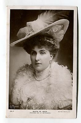 Queen of Spain - Princess Ena of Battenberg - 1908 used real photo postcard