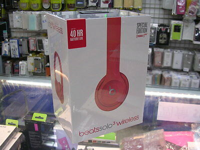 Limited Apple Beats by Dr. Dre Solo3 Wireless Headband Headphones RED
