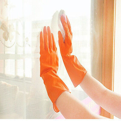 1 Pair Waterproof Rubber Latex Gloves For Dish Washing Clean Laundry Housework