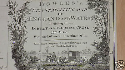 Bowles's New Travelling Map of England and Wales, 1778