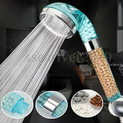 Anion SPA Water-saving Shower Head Filtration Handheld Nozzle Bath Water Filter