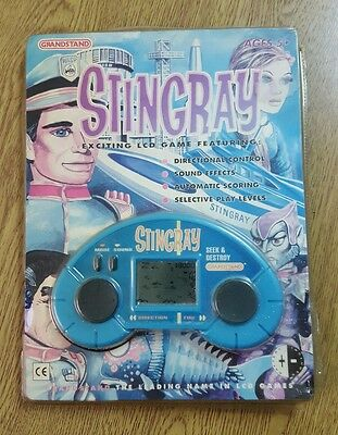GRANDSTAND STINGRAY  SEEK and DESTROY LCD HANDHELD GAME SEALED 1992 RARE RETRO