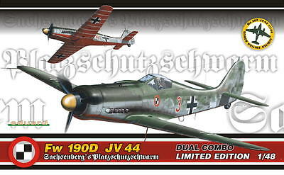 EDUARD 1154 Fw190D JV44 Dual Combo in 1:48 LIMITED + Bonus Me262 in 1:144