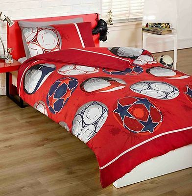 """Football Red 72"""" Lined Ready Made Curtains"""