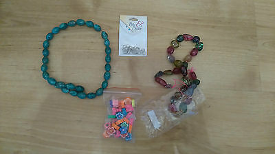 Lot of Beads For Jewellery Making Multicoloured Glass Flower